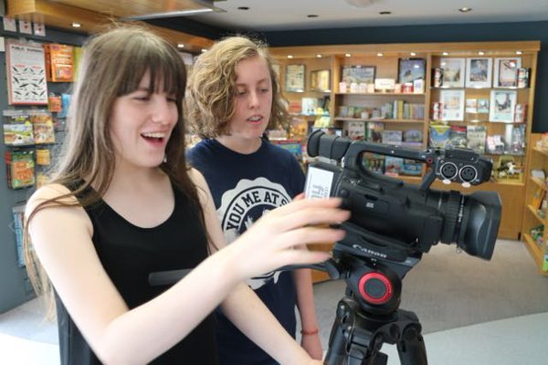 two girls filming - how to make a movie