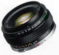 Manual focus 50mm lens