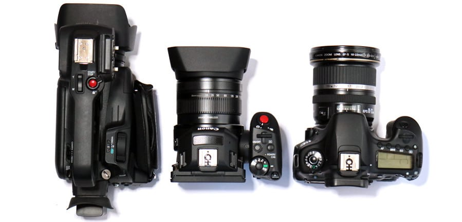 Canon XC10 compared with three other cameras