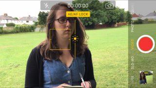 iPhone camera screen filmmaking