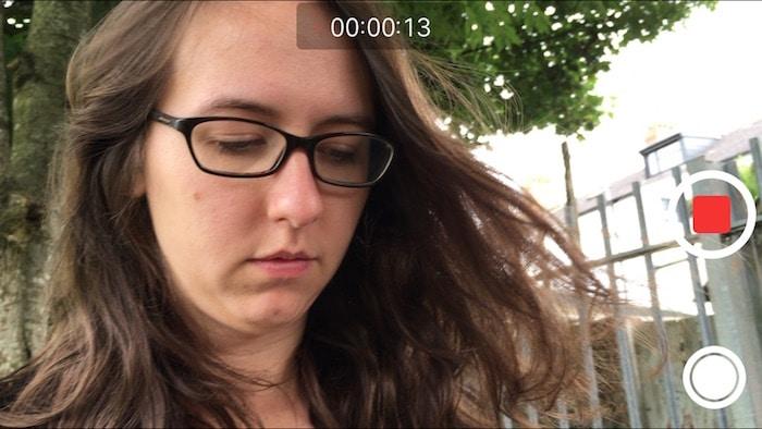 iPhone camera screen