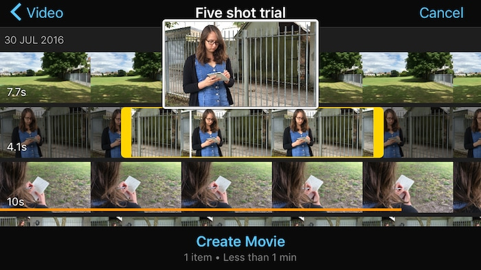 imovie 2.2.3 for iOS videobrowser