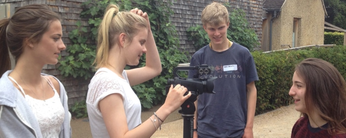 Teens filmmaking
