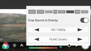 Filmic Pro formats pane