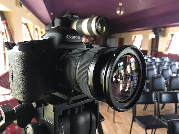 Canon 5D on tripod