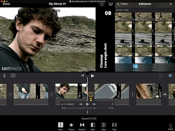 iMovie on iPad