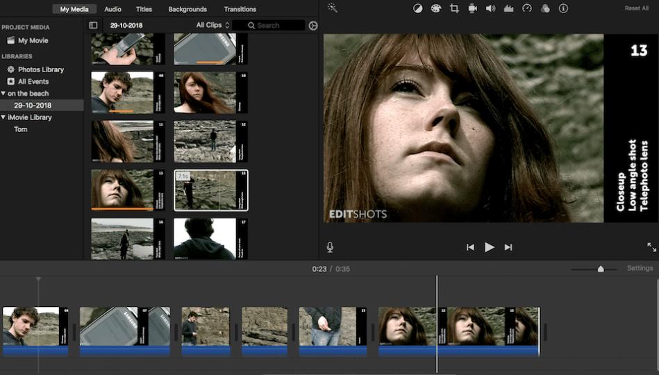 Editshots iMovie