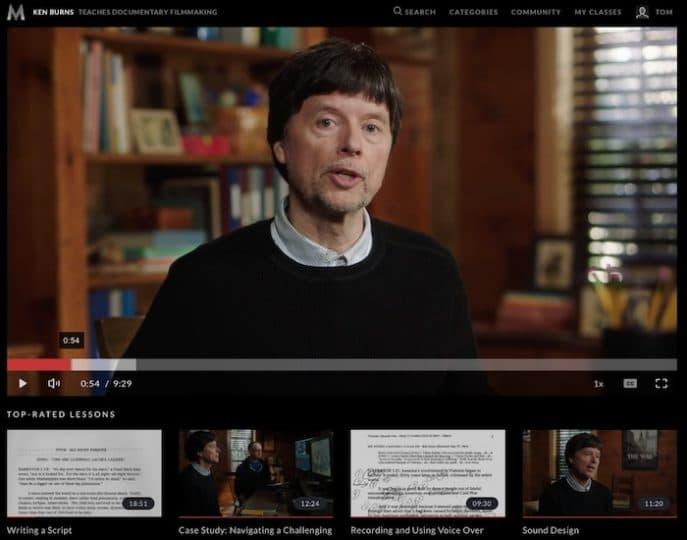 Ken Burns MasterClass screenshot