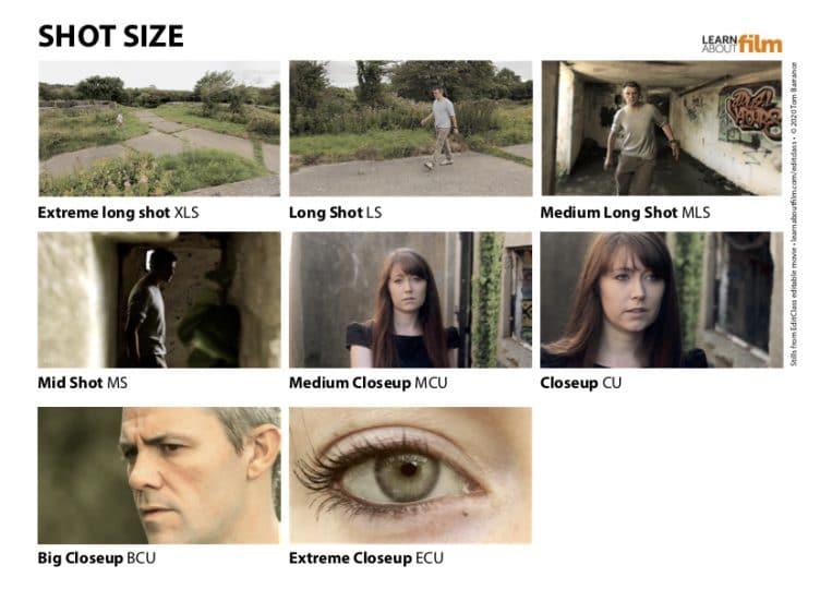 Shot size chart